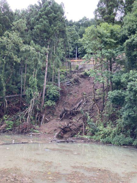 相模湖の崩落バス釣り